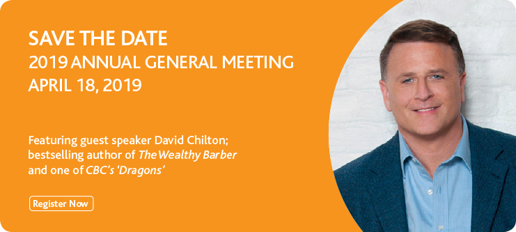 Register to Attend - 2019 Annual General Meeting on April 18'th