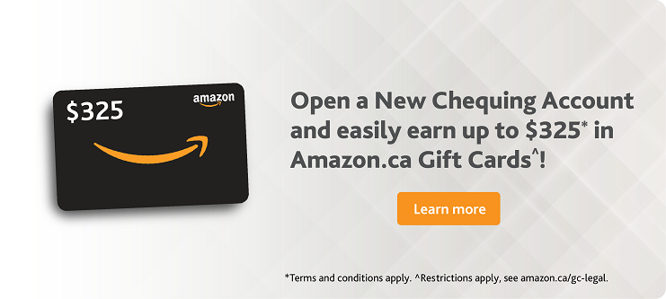 Open a New Chequing Account and Earn upto $325* in Amazon Gift Cards - Alterna Savings