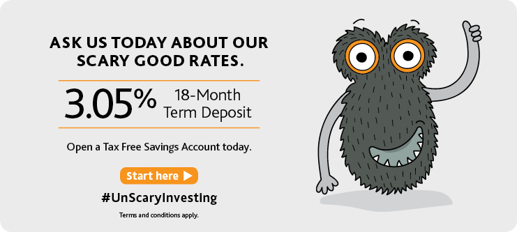 3.05% on 18 Month Term Deposit