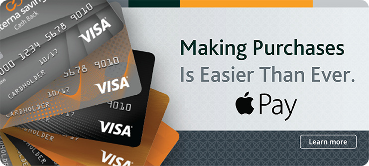 Making purchases is easier than ever with your Alterna Savings Collabria VISA credit card.