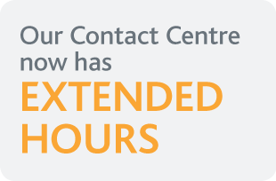 Our Contact Centre now has extended hours