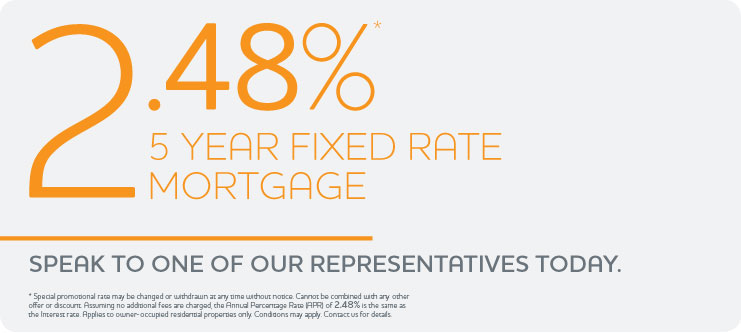 2.48% 5 Year Fixed Rate Mortgage