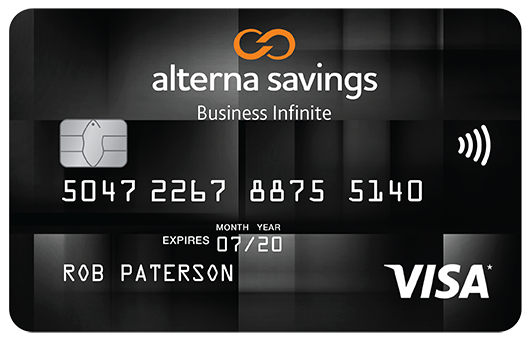 Alterna savings and credit union ltd alterna savings collabria alterna savings collabria visa infinite business card reward your company with infinite rewards reheart Gallery