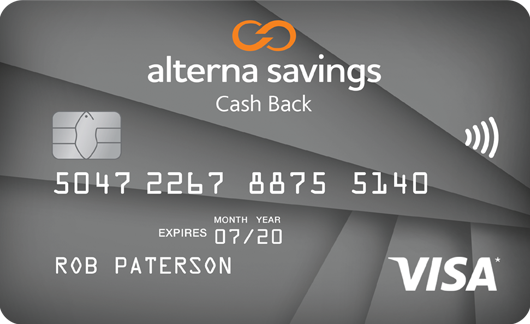 alterna savings collabria visa cash back card